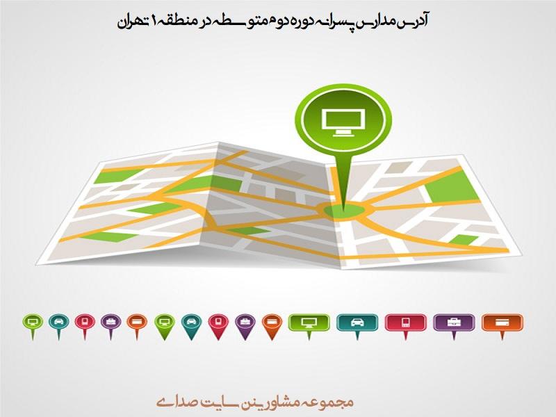 لیست مدارس پسرانه دوره دوم متوسطه در منطقه ۱ تهران