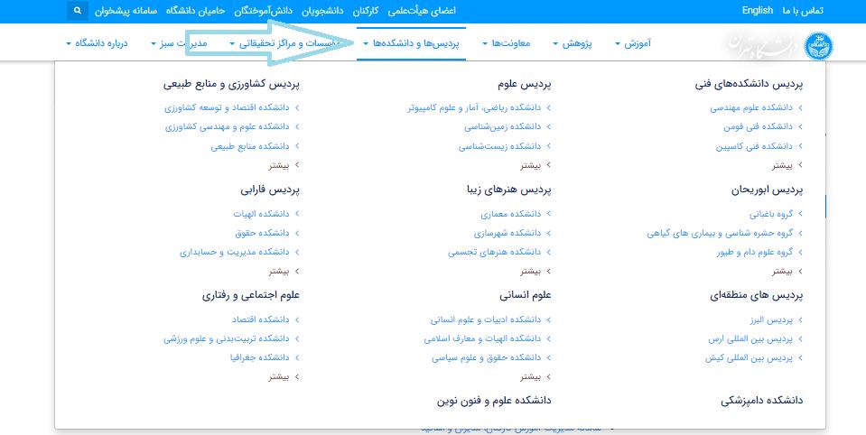 سامانه پیشخوان خدمت دانشگاه تهران my.ut.ac.ir